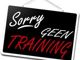 Trainingen en Ledenvergadering